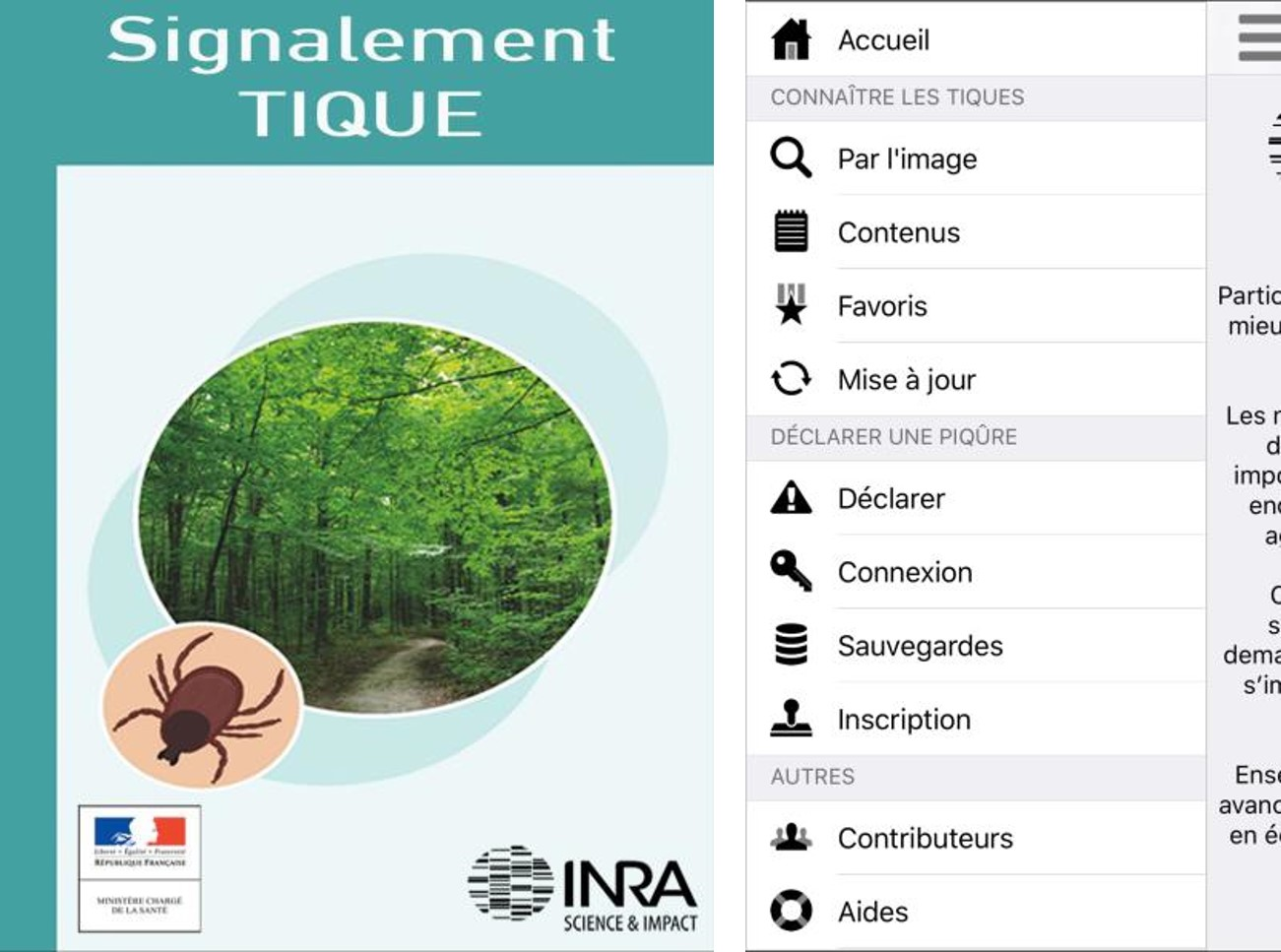 SIGNALEMENT TIQUE APPLICATION TÉLÉCHARGER