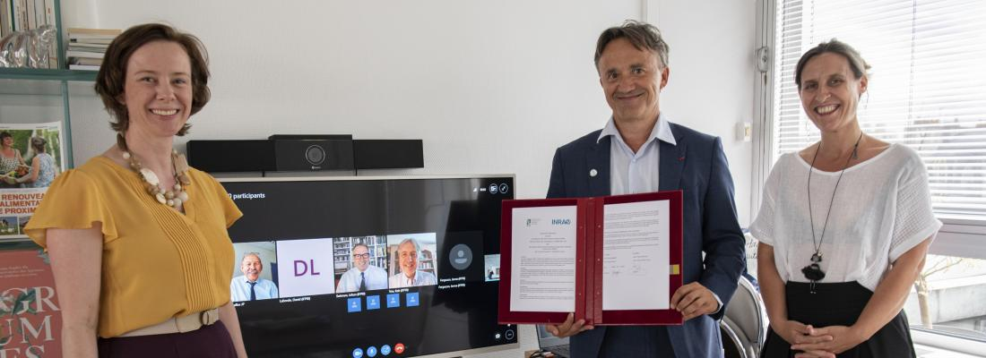 illustration Agricultural Systems and Food Security: INRAE and the IFPRI sign an agreement to strengthen their collaboration