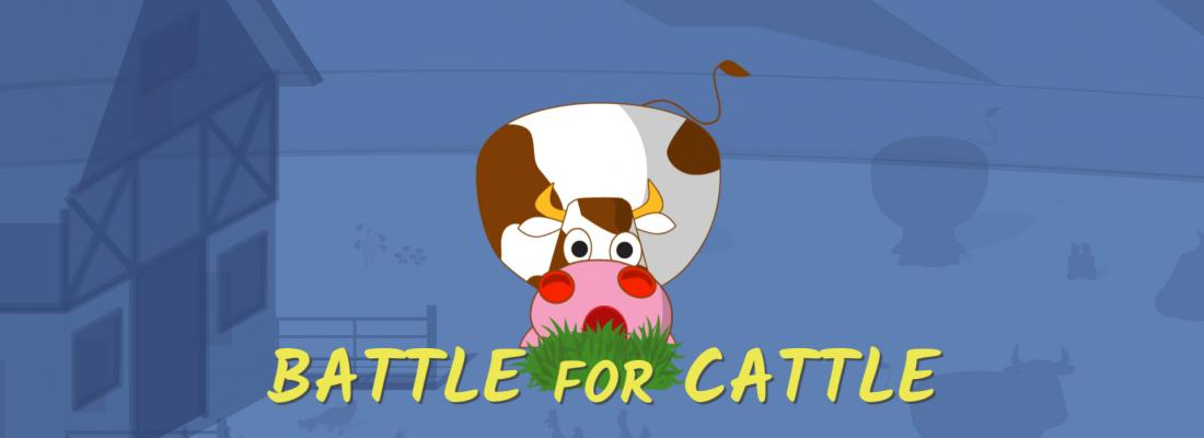 "illustration Save sick cows in ""Battle for Cattle,"" a free science strategy game"