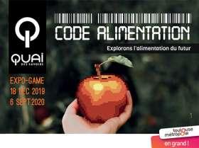 Affiche de l'exposition code alimentation